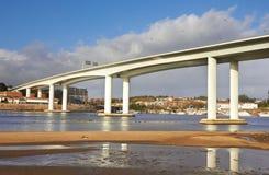 高和长的具体桥梁 免版税库存照片