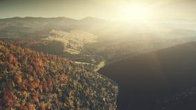 高地倾斜表面软的阳光鸟瞰图 影视素材