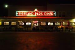 高地公园吃饭的客人在晚上在罗切斯特纽约 免版税库存照片