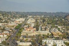高地公园都市风景的鸟瞰图  库存照片