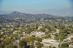 高地公园都市风景的鸟瞰图  免版税库存照片