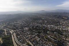 高地公园洛杉矶加利福尼亚天线 免版税图库摄影