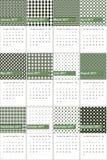高地和宙斯上色了几何样式日历2016年 库存照片