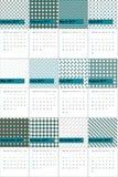 高地和宙斯上色了几何样式日历2016年 免版税库存照片