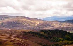 高地的全景 库存照片