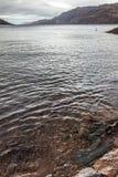 高地的大湖 尼斯湖,堡垒奥古斯都,苏格兰, 免版税库存照片