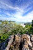从高地的好的海景 库存图片
