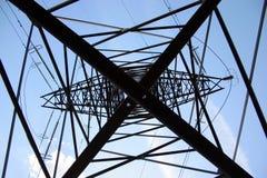 高塔电压 库存图片