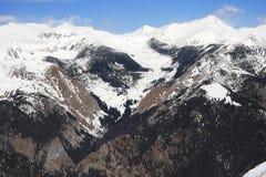 高处冬天场面 库存照片