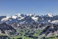 高处风景在阿尔卑斯 库存图片
