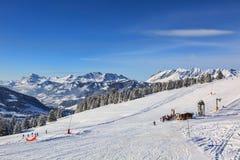 高处滑雪领域 库存图片