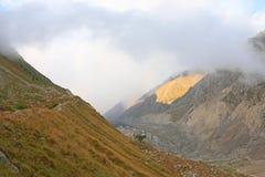 高多山的峡谷 图库摄影