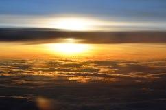 高天空sunrize 免版税图库摄影