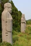 高官,宋朝坟茔,中国雕象  库存照片