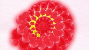 高定义摘要CGI行动背景 花形成成螺旋形 摘要开花动画 库存例证