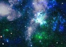 高定义星际背景 满天星斗的外层空间背景纹理 五颜六色的繁星之夜天空外层空间背景 免版税库存图片