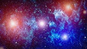 高定义星际背景 满天星斗的外层空间背景纹理 五颜六色的繁星之夜天空外层空间背景 免版税库存照片