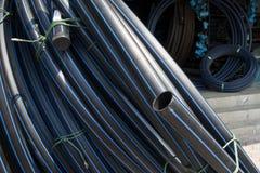 高密度聚乙烯管道卷 免版税库存图片
