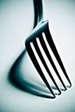高对比的叉子 库存图片