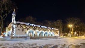 高尔基文化和休闲中央公园在哈尔科夫timelapse hyperlapse,乌克兰 股票录像