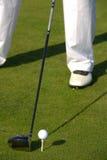 高尔夫俱乐部和球 库存照片