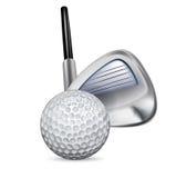 高尔夫俱乐部和高尔夫球 库存图片