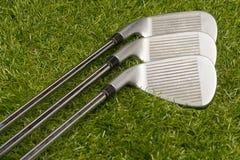 高尔夫俱乐部或高尔夫球铁 库存图片