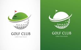 高尔夫俱乐部象、标志、元素和商标汇集 皇族释放例证