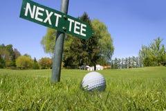 高尔夫球下个发球区域 图库摄影