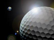 高尔夫球世界 免版税库存照片