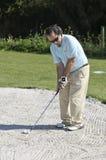 高尔夫球人体育运动 免版税图库摄影