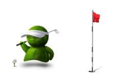 高尔夫球人 库存照片