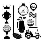 高尔夫球体育设计 库存照片