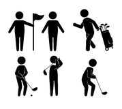 高尔夫球体育设计 图库摄影