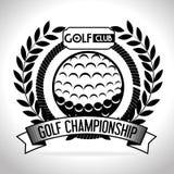 高尔夫球体育设计 免版税库存照片
