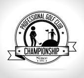 高尔夫球体育设计 库存图片