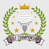 高尔夫球体育设计 免版税库存图片