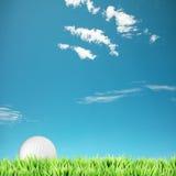 高尔夫球作用时间 免版税库存图片