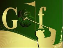 高尔夫球例证 免版税库存照片