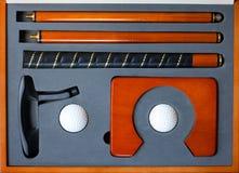 高尔夫球便携式集 免版税库存照片