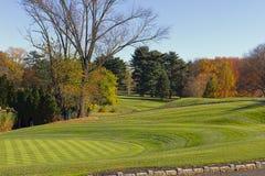 高尔夫球区在秋天2 库存图片