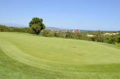 高尔夫球区 免版税图库摄影