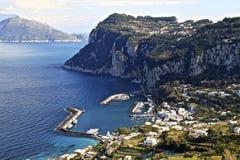 从高尔夫球卡普里岛海岛的欧罗巴视图 库存照片