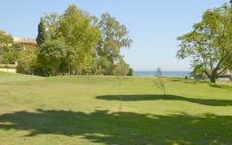高尔夫球和海运 库存图片