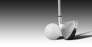 高尔夫球和铁 库存照片