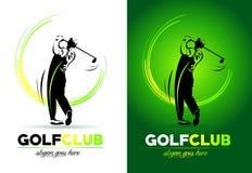 高尔夫球商标 免版税库存图片