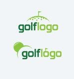 高尔夫球商标 库存图片