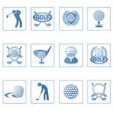 高尔夫球图标ii万维网 库存例证