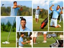 高尔夫球图象马赛克  免版税库存照片