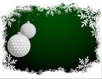高尔夫球圣诞卡 库存照片